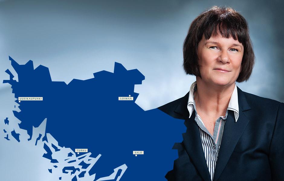 Mirva Mahkonen haluaa varmistaa, että yrityslainan hakeminen on yrittäjälle vaivatonta.
